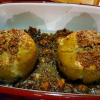 A healthy dessert for cooler days - spiced baked apples