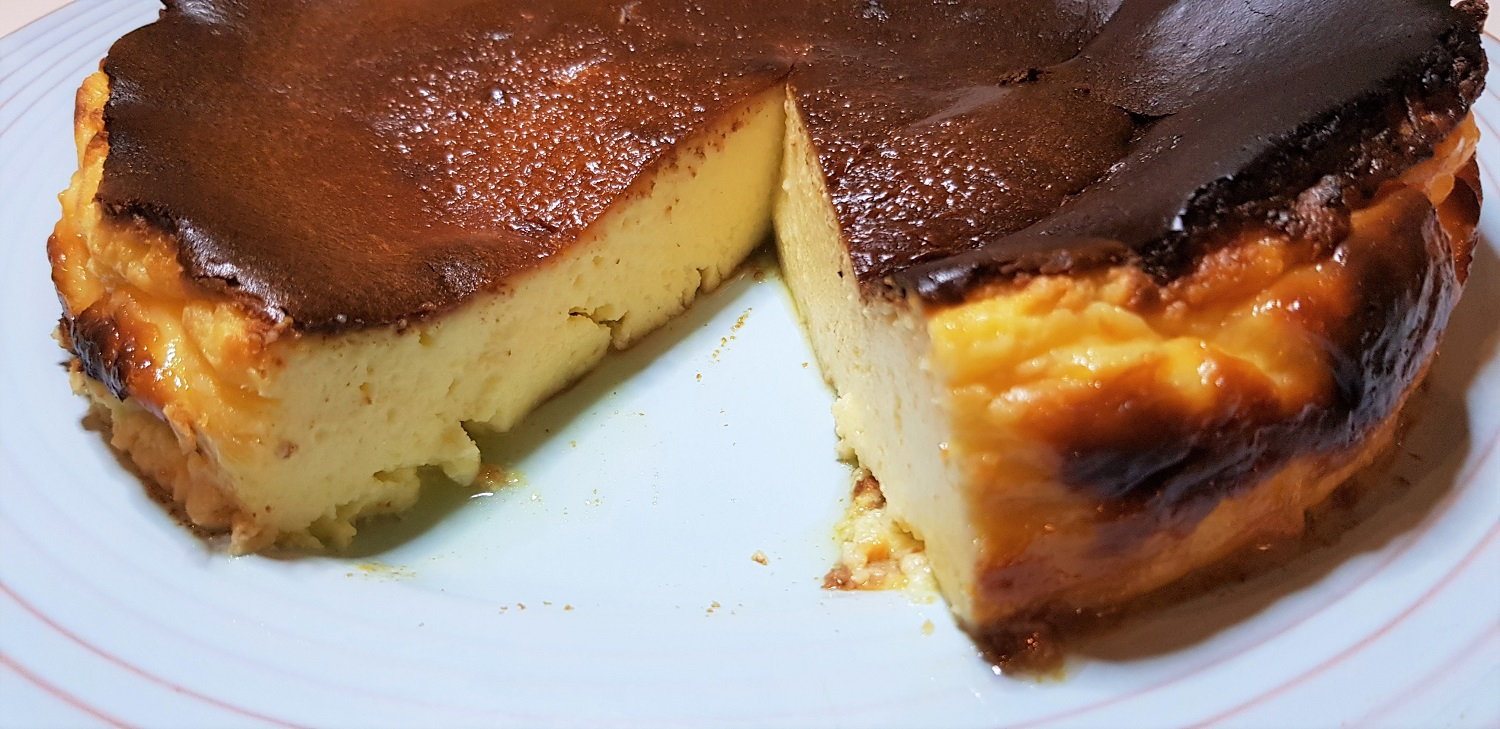 Low histamine burnt basque cheesecake