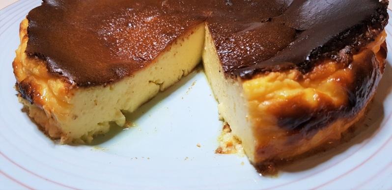 Low histamine burnt basque cheesecake